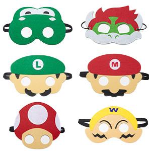 HONGTEYA Masque de Enfants Super Mario Bros 6pcs Masques de F/êTe Cosplay pour Enfants Gar/çons Filles D/éCoration de F/ête danniversaire Halloween Habiller des Cadeaux