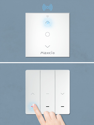 No Se Necesita WiFi Maxcio Kit de RF433 Interruptor Inal/ámbrico con Mando a Distancia Interruptor Peque/ño para Luz y Electrodom/ésticos Interruptor de Luz Pared con RF Control Remoto Port/átil