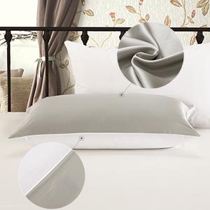 zipper silk pillowcase