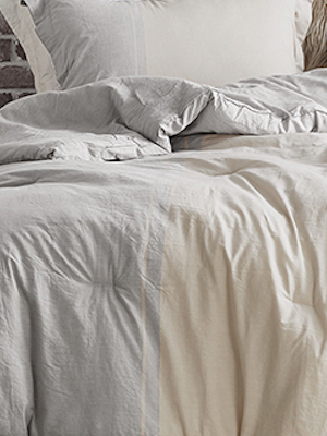 Gray Ivory Striped Warm Designer Comforter Bedding Decorative Designer Fashionable Bedspread Cozy