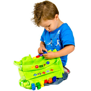 Buckle Buddy Toddler Backpack for Learning Montessori sensory busy board travel toy