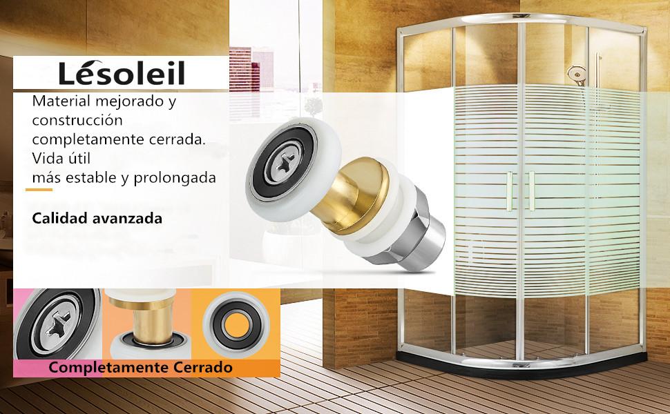 LESOLEIL Rodillo para Puerta de Ducha Rodillo de Repuesto Rueda de Corredera 8 piezas 25 mm: Amazon.es: Hogar