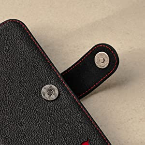 TORRO Black Leather Wallet Case for Apple iPhone 12