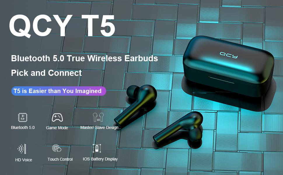Descripción Auriculares QCY T5 True Wireless