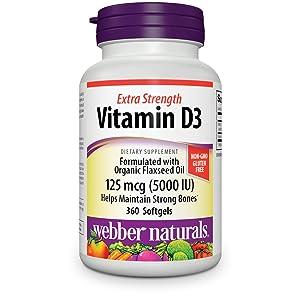 webber naturals vitamin d3 5000 iu softgels for immune healt