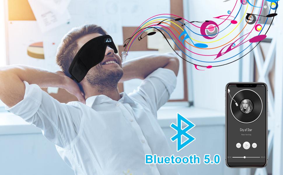 Sleep Headphones Bluetooth Eye Mask