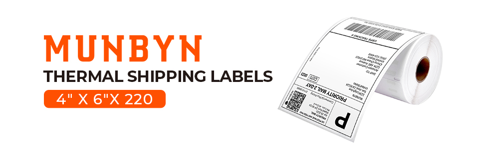 thermal shipping label