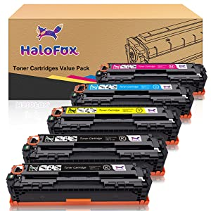 HaloFox Compatible Toner Cartridge Replacement for Canon 131 imageClass MF624Cw MF628Cw MF8230Cn MF8280Cw LBP7100Cn for HP 131A 131X (Black, Cyan, ...
