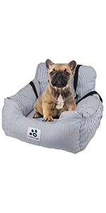 Car seat for pet bed
