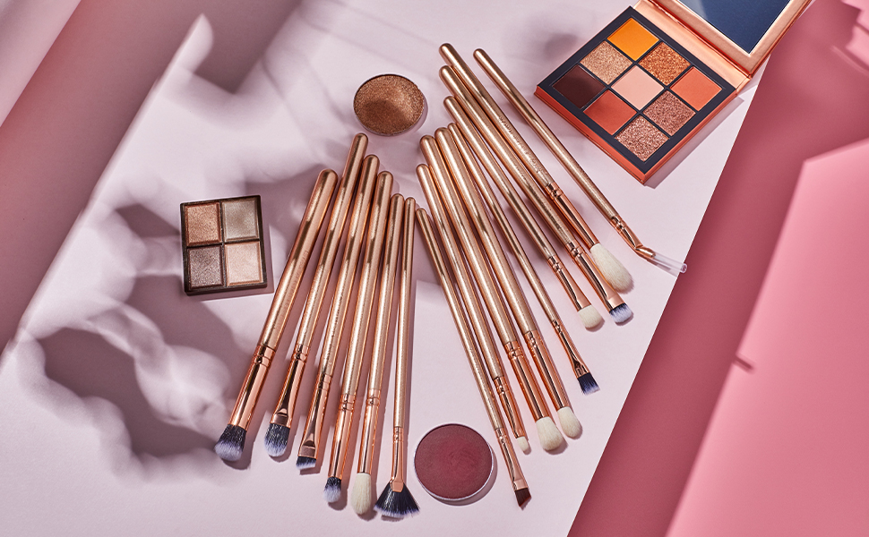 Jessup gold eye makeup brushes set