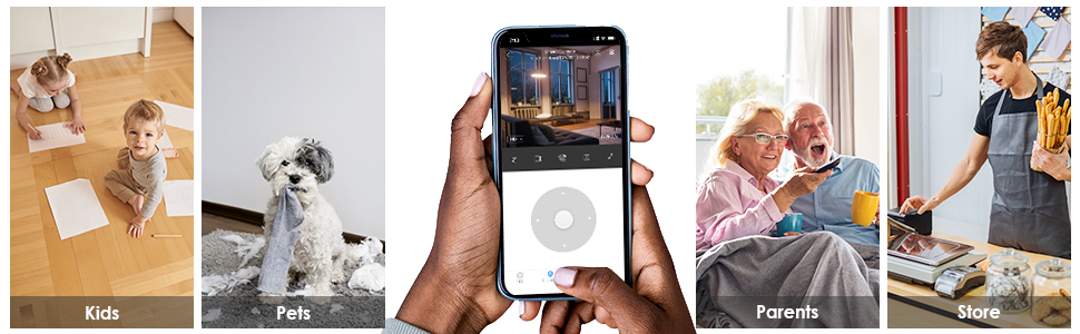 Baby Monitor, Pet WiFi IP Camera, Indoor Home Security ip Camera