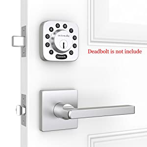 Ultraloq Door Handle Lever With Modern Contemporary Slim Square Design For Passage Hall Study Room And Closet Lever In Satin Nickel Adjustable Latch Backset Matching For Ultraloq U Bolt Smart Deadbolt