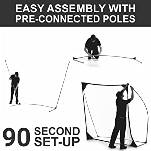 easy to assemble golf net