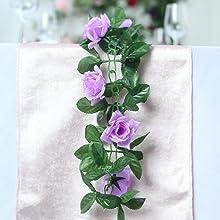 "VINTAGE silk org 6/"" PURPLE ROSE CZECH FLOWER"