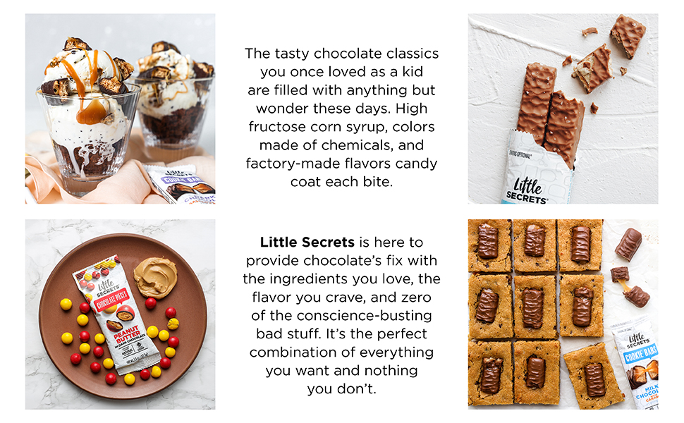 Little Secrets Wafers and Cookie Bars Chocolate Peanut Butter Pieces