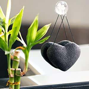All Natural, Plant-Based Konjac Facial Sponge Activated Charcoal