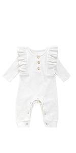 MTSLYH Infant Baby Boy Girl Outfit Ruffled Letter Romper+Floral Pant+Headband 3pcs Sets