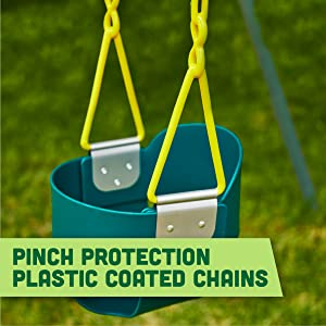 Pinch Protection Plastic Coated Chains