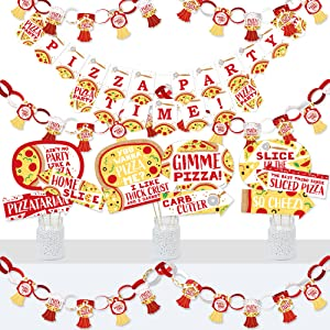 Printable Pizza Party Banner Template   Hadley Designs