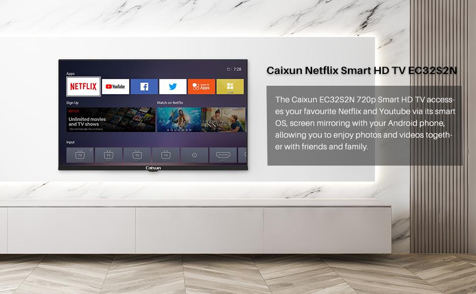 32 inch smart tv  Caixun 32 Inch TV 720p Smart LED TV-C32 High Resolution Television Built-in HDMI, USB – Support Screen Cast Mirroring (2020 Model) 54c3ab2c 8199 4de4 8da9 7062382fb0ba
