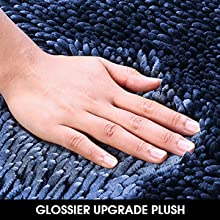 silky soft bath rug mat set
