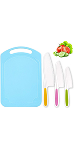Kids Knife Set with Cutting Board