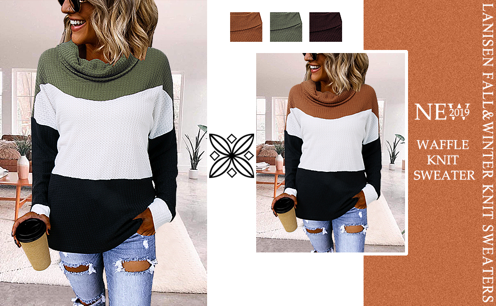 cowl neck pullover sweater tops