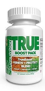 true nutrition trueboost custom protein powder renew protect blend