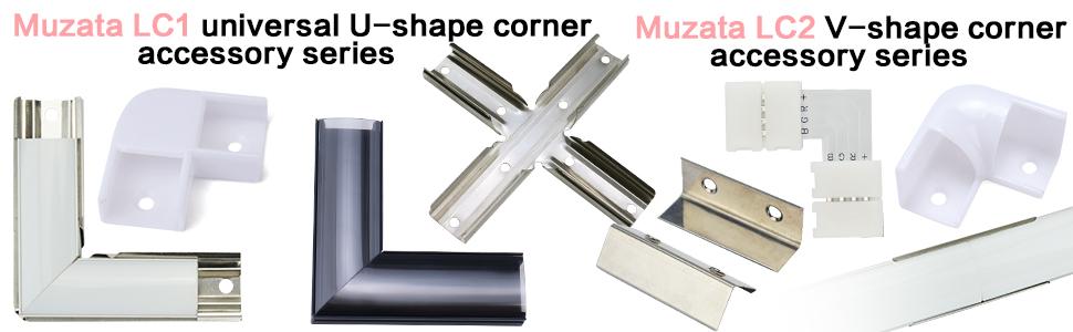 muzata led channel corner