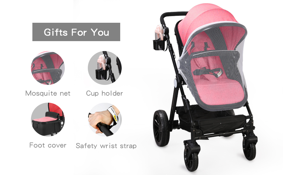baby with stroller set for girls