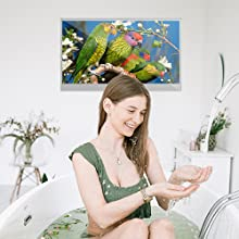 android shower mirror tv