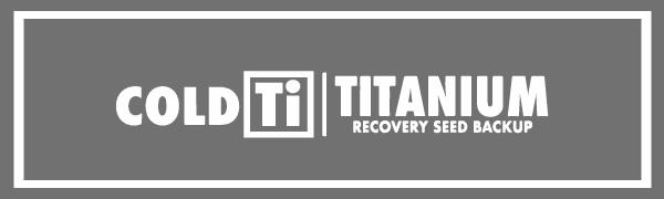 Coldti Titanium: Recovery seed backup