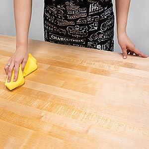 Sealing wood countertops and butcher blocks