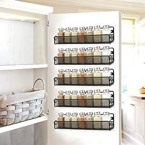 A1 fahua Rack de Stockage Polyvalent Cuisine Spice Sauce Armoire de Stockage Stand Chambre /à Coucher Trois Couches de Stockage Racks Empilable Shlef Organizer-Noir