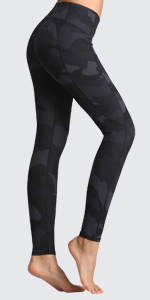 FITTIN Camo Printed Yoga Leggings for Women with Pocket