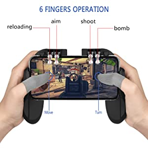 Controller and Finger Sleeve In Use