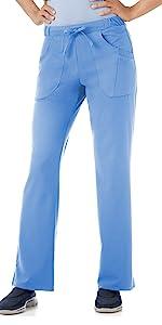 Model wearing Jockey 2377 women's Extreme Comfy Scrub Pant
