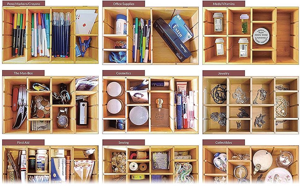 jewelry dividers organizer wood box teas storage gift box
