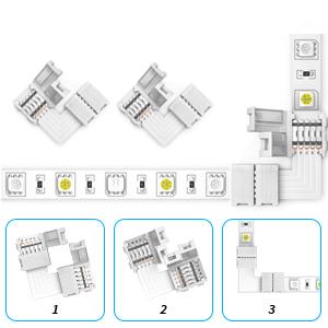 4 x 4-pin L-shaped Connectors