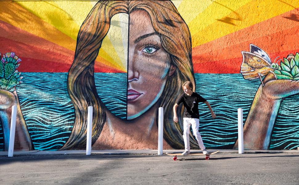 Magneto longboard long board skateboard beginners bamboo maple deck best popular boys girls teens