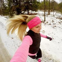 warm knit headband headwrap runner athletic ear warmer