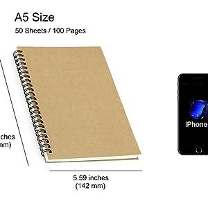 Spiral Notebook Size