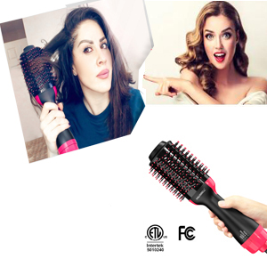 hot air brush styler and dryer
