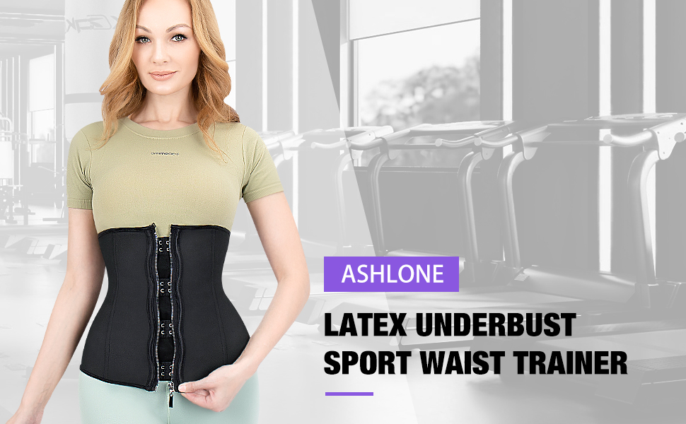 Poster - Latex Underbust Sport waist trainer for postpartum recovery and belly contrrol