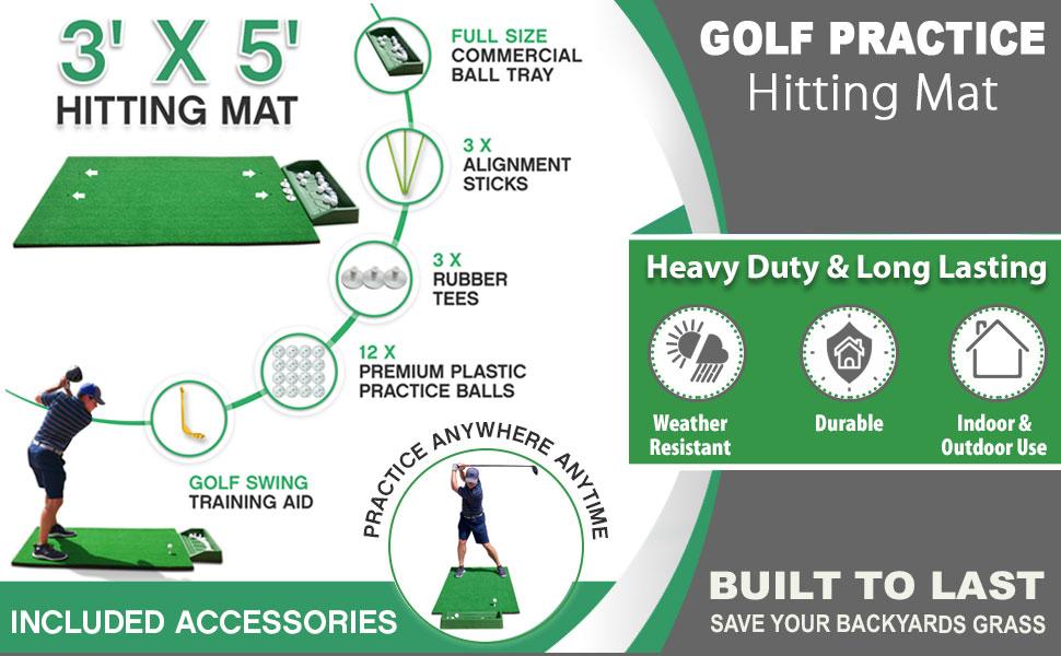 3x5 golf hitting mat, golf hitting mat, golf hitting mat 3x5, golf mat 3x5, golf mats, Golf Mat