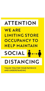 e are Limiting Store Occupancy Decal Maintain Social Distancing