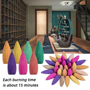 backflow incense burner cones