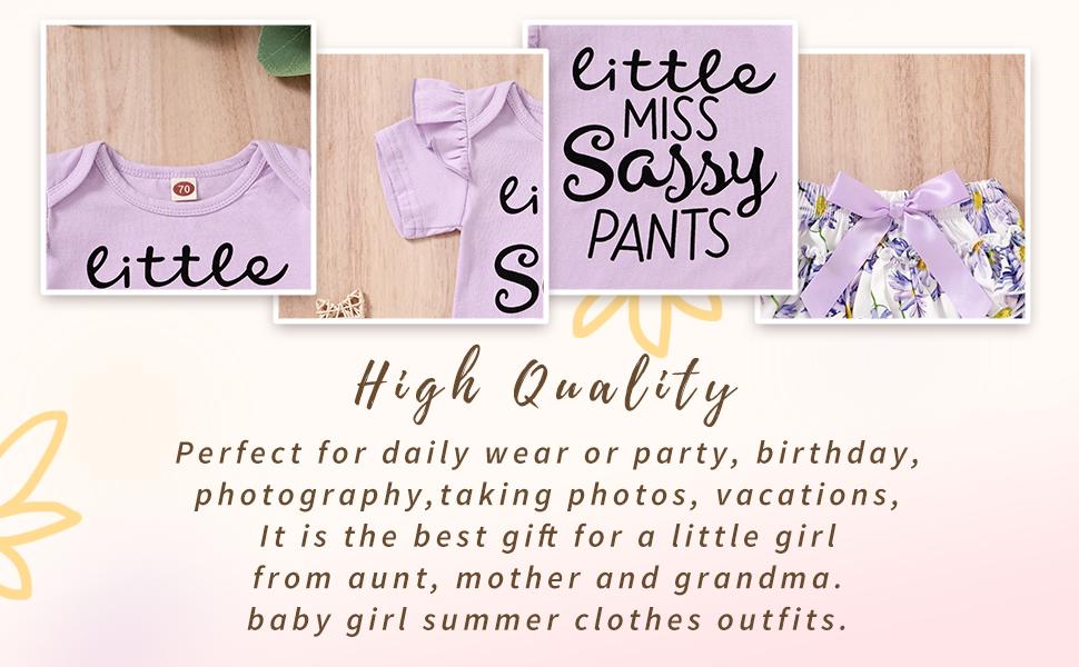 purple little miss sassy pants set summer