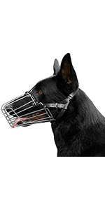 wire dog muzzle steel basket large durable steel