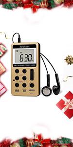 retekess V-113 portable Transistor FM stereo radio